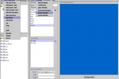 Figure 3: The sophisticated graphical client in 2002